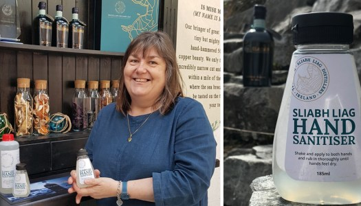 Former midwife Moira swaps spirits for sanitiser production