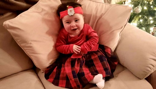 A happy Christmas ahead for baby Livie and family