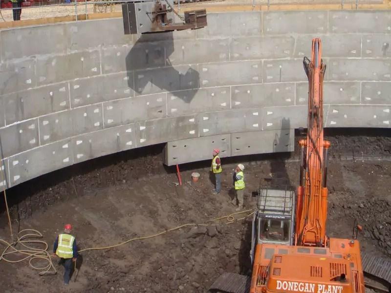 Segmented Shaft Construction - Bottom of Shaft