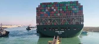 بعد نجاح تعويمها نقل السفينة إيفر جيفن إلى منطقة البحيرات المرة لتقييم الأضرار