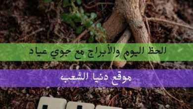 الطالع أبراج الثلاثاء 14/سبتمبر/2021 جوي عياد .. حظك 14/9/2021