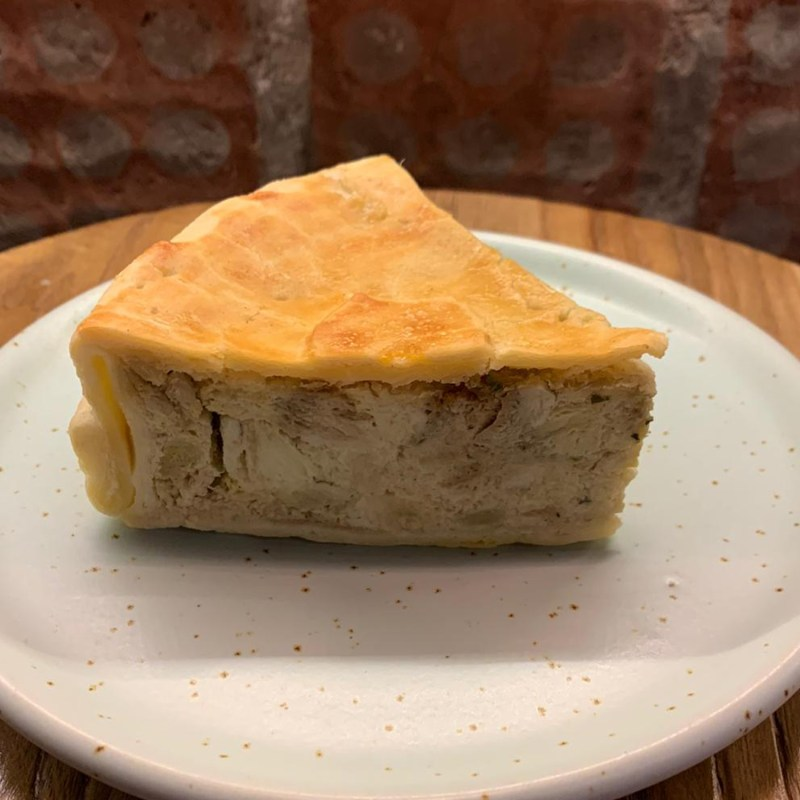 pastel de alcachofa