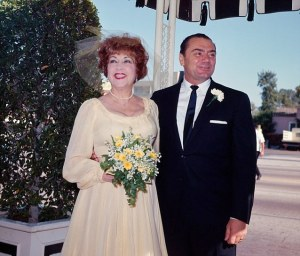 27 Jun 1964, Los Angeles, California, USA --- Ethel Merman and Ernest Borgnine at Their Wedding --- Image by © Bettmann/CORBIS