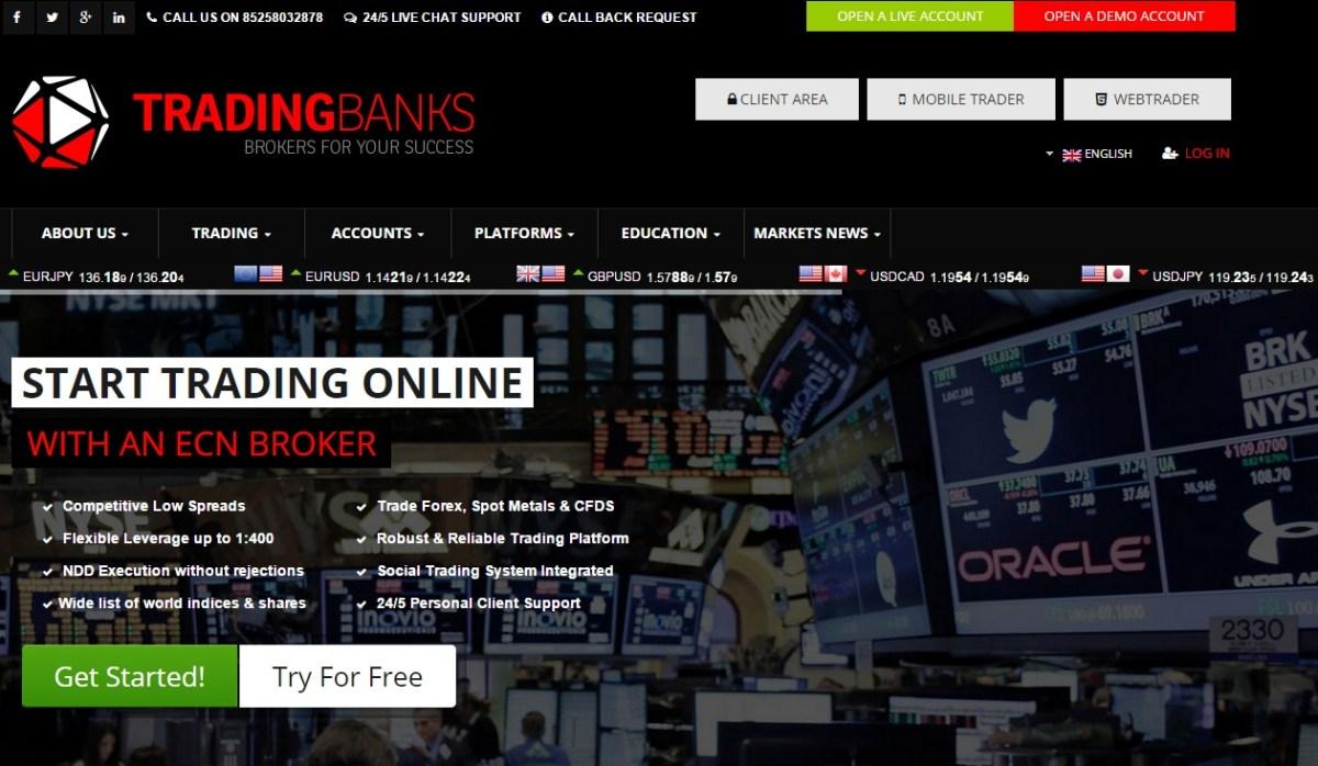 "100% Deposit Bonus in ""Trading-Banks"" Forex Broker"