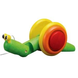 lumaca-trainata-pull-along-snail-plan-toys