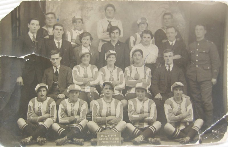 Blyth Spartans with club officials