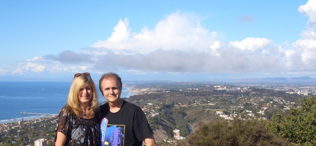 A Glorious Thanksgiving Day - Bill & I on Mount Soledad With View of La Jolla Coastline