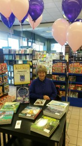 Donna at Barnes and Noble Book Signing, Sat., Nov. 21, 2015, featuring Morning Glory, Why Do You Sleep at Night.