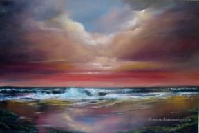 Harmony 20 x 30 Oil on block canvas Irish seascape