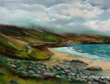 Keem Bay, Achill 16 x 12 inches - oil on canvas