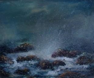 Rocky Shores II Seacape- 10x12 inches - oil on board