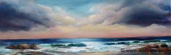 Sea to Shore - Oil on Block Canvas 36 x 12 inches