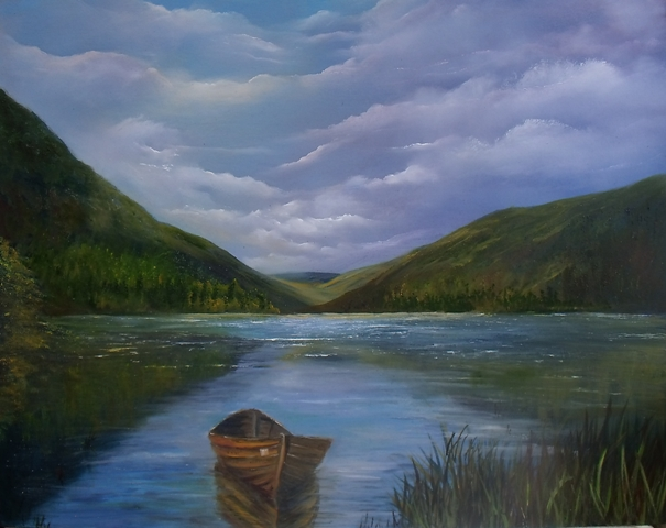 Irish Art - Upper Lake Glendalough, Co. Wicklow