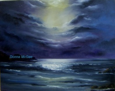 Archives - select past works, Moonlit sky, dramatic cloudy sky, Moonlight on water, heavenly window