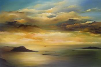 Irish Art - my-plein-air-dingle-trip - Blasket Islands, Irish skyline, Kerry, west coast of Ireland