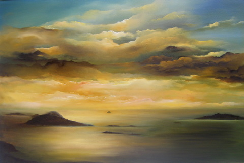 "Blasket Islands - Oil on canvas 20 x 30"" © www.donnamcgee.ie"