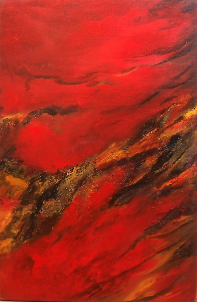 "Collision - Oil on canvas 20 x 30"""