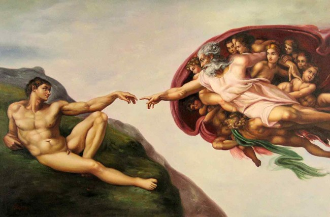 Creation of Adam, Michaelangelo, Cistine Chapel, Rome, Fresco