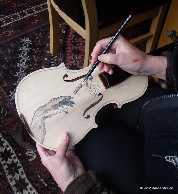 Violin Art - Oil painted