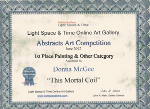 LST Abstracts 1st Place Painting & Other Category - Donna McGee
