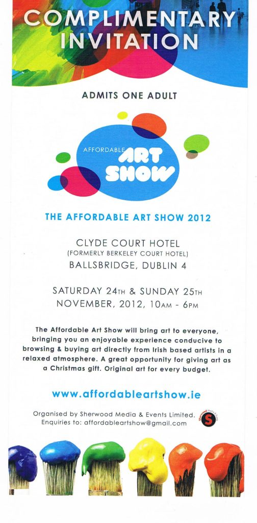 Donna McGee invite to Affordable Art Show Dublin 2012