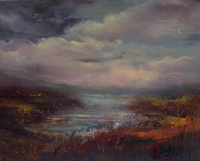 """Wicklow Way 10 x 12"""" Oil on Canvas Donna McGee"""