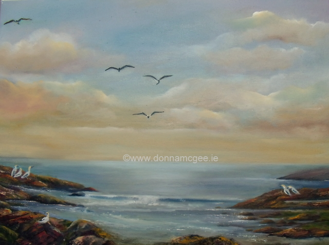 Gannet Watch 24x18 Oil on canvas