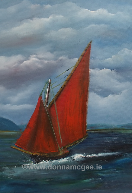 """Galway Hookers 4 Oil on canvas 14x10"""""""