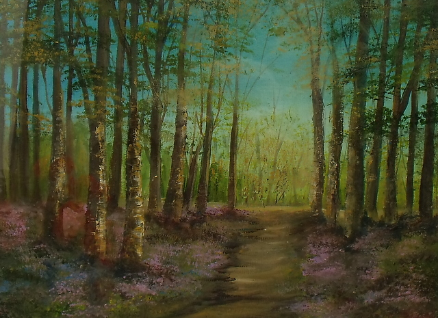 Hidden Trail 16 x 12 Oil on Board