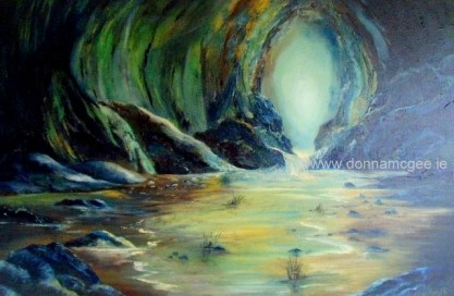 Safe Haven Seascape - Oil on Canvas 20 x 30""