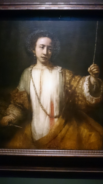 Lucretia by Rembrandt 1666 - Minneapolis Institute of Arts