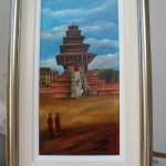 Nepal Fundraiser Raffle - Winner Announced Nyatapola Temple, Bhaktapur, Nepal 10 x 20″ Mixed Media