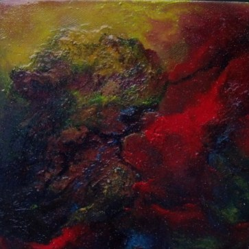 """Life Force - Abstract Oil on Canvas 8 x 8"""""""