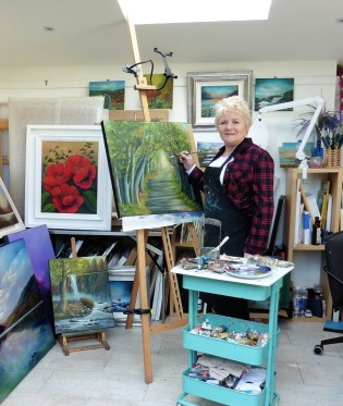 Donna McGee at work in her studio