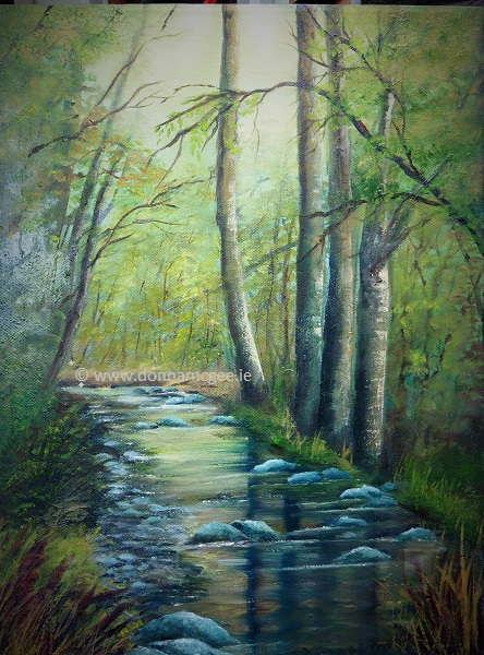 Lost in the woods at Tintern Abbey - oil on canvas 16 x 12 inches
