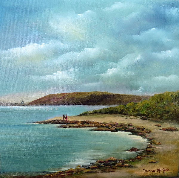 Passage East to Hook Lighthouse - Oil on Canvas 12 x 12 inches