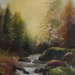 "iRISH LANDSCAPSE ART Nature Trail 10 x 12"" Oil on Canvas"