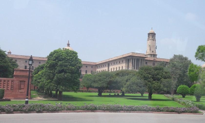 Near the Memorial site of Mahatma Gandhi