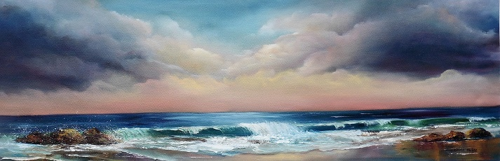Sea to Shore 36 x 12 inches Oil on canvas - ABI Feature