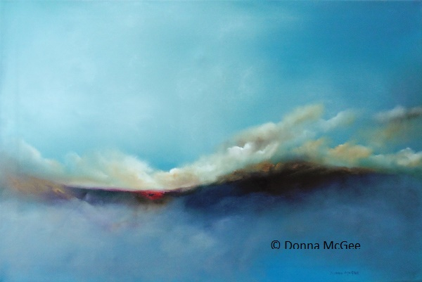 Into the Ether Series Oil on Canvas 20 x 30 inches Donna McGee