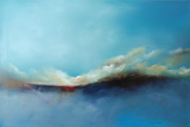 Scamaill (Irish for clouds) 20 x 30 inches - Oil on canvas Donna McGee