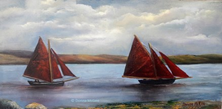 "Sailing Day 10 x 20"" Oil on board"