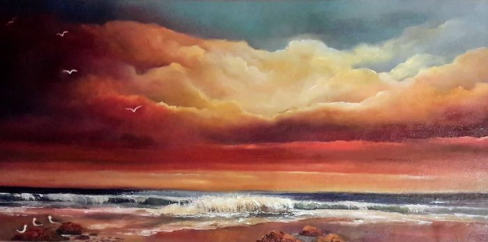 Evening Seabreeze 24 x 12 Oil on canvas