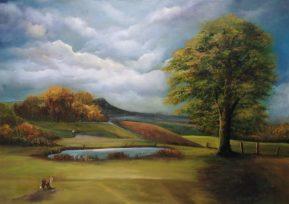 Anyone for Golf? 50x70 cms Oil on Canvas - Powerscourt Golf Club Enniskerry