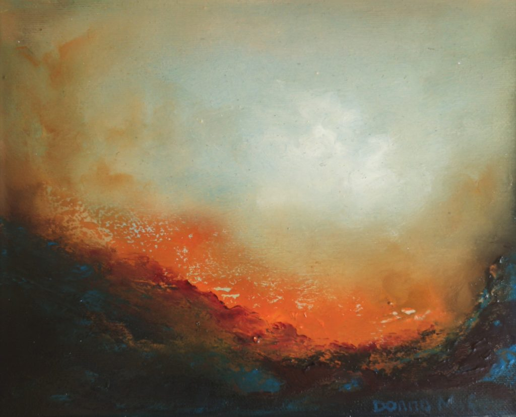 Transcendence 4 10x12 inches - Oil on canvas - Contemporary Abstract Art - Donna McGee