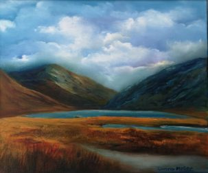 iRISH LANDSCAPSE ART Doolough Valley