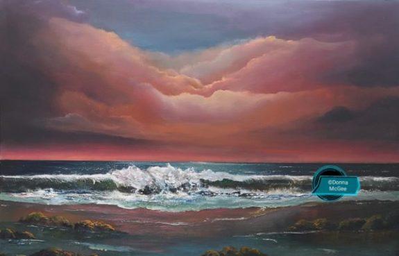 Celestial Flush 20x30 Oil on Canvas - Donna McGee