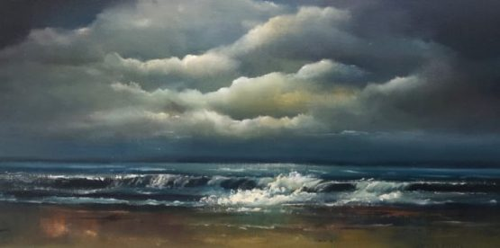 Eternal Calm 10 x 20 inches Oil Painting.jpg Irish seascape painting