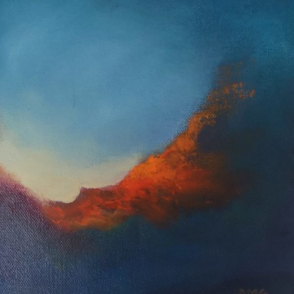 Into the Ether Series of Oil abstract landscape paintings Donna McGee