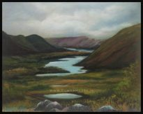 Ladies Vuew Landscape Oil painting 10 x 12 inches - Overlooking the lakes in Kerry, Ireland